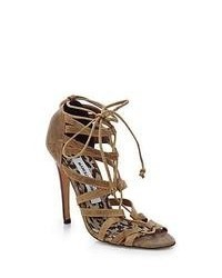 Tan Suede Gladiator Sandals