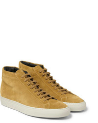 Tan Suede High Top Sneakers