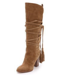 Michl Kors Collection Jessa Suede Wrap Boots