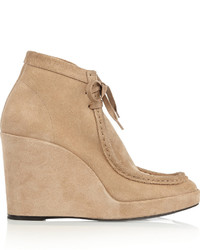 Suede wedge ankle boots medium 344626