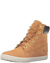 Tan Suede Lace-up Flat Boots