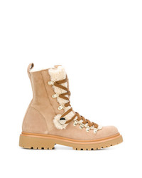 Moncler Shearling Lined Hiking Boots