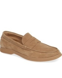 Tan Suede Loafers