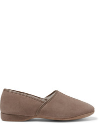 Crawford shearling lined suede slippers medium 609739
