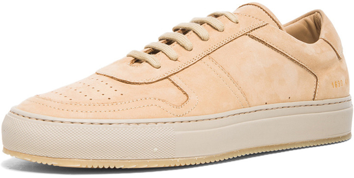 282a3cc95bd ... Common Projects Low Basketball Suede Sneakers In Tan ...