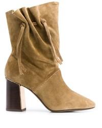 Tory Burch Gathered Block Heel Boots