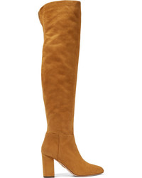 London suede over the knee boots camel medium 964474