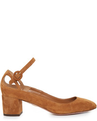Sweet thing suede block heel pumps medium 1194194