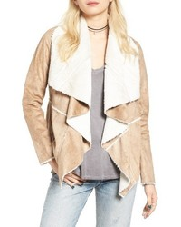Soprano Faux Shearling Moto Jacket