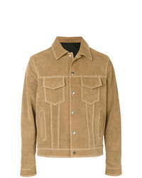 Tan Suede Shirt Jacket