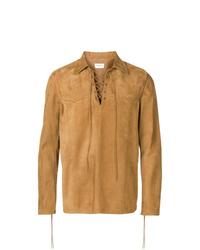 Saint Laurent Lace Up Shirt Jacket