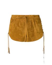 Saint Laurent Laced Mini Shorts