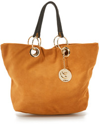 Tan Suede Tote Bag