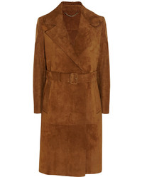Prorsum fringed suede trench coat medium 370776
