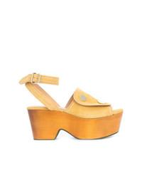 Derek Lam Zaria Button Suede Platform Sandal