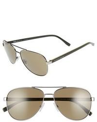 BOSS 0761s 60mm Polarized Aviator Sunglasses