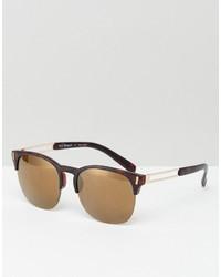 A. J. Morgan Aj Morgan Retro Sunglasses In Tortoiseshell