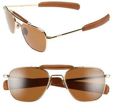 ab84c76e059e ... Randolph Engineering Aviator Ii Polarized 55mm Sunglasses 23k Gold Tan  ...