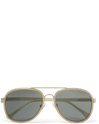 Dries Van Noten Aviator Style Acetate And Silver Tone Sunglasses