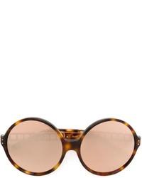 Linda Farrow Cage Frame Round Sunglasses