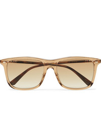 Gucci D Frame Acetate And Gold Tone Sunglasses