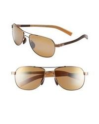 Maui Jim Maui Flex Guardrails 56mm Aviator Sunglasses Copper Brown Tan One Size