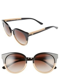 Tory Burch Phantos 53mm Retro Sunglasses Beige Black