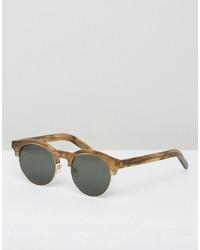 Han Kjobenhavn Round Sunglasses Smith Horn