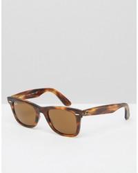 Ray-Ban Wayfarer Sunglasses In Tort 0rb2140
