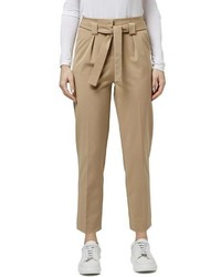 Topshop Belted Tapered Paperbag Trousers