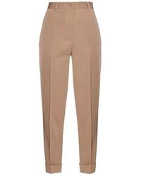 Bottega Veneta High Waisted Wool Twill Trousers