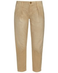 Current/Elliott The Tapered Mid Rise Cropped Trousers