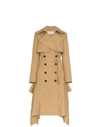 Chloé Asymmetric Hem Wool Trench Coat