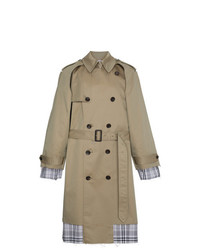 Check lined trench coat medium 7638424