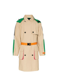 Heron Preston Hooded Waist Belt Trench Coat