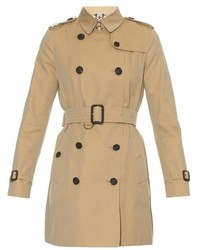 Burberry London Kensington Mid Length Gabardine Trench Coat