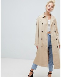 Fashion Union Mac Jacket With Storm Flaps And Contrast Lining