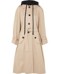 Miu Miu Oversized Cotton Poplin Trench Coat