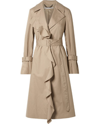Stella McCartney Ruffled Cotton Twill Trench Coat