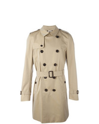 Burberry The Kensington Long Trench Coat Nude Neutrals
