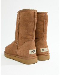 UGG Classic Short Boots In Chestnut Suede