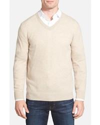 Nordstrom Big Tall Shop Cashmere V Neck Sweater