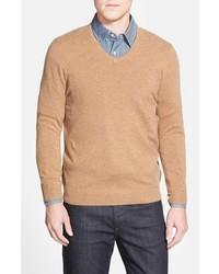 John W Nordstrom Cashmere V Neck Sweater