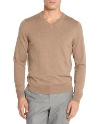 Nordstrom Shop Cotton Cashmere V Neck Sweater