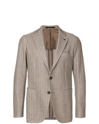 Tan Vertical Striped Blazer