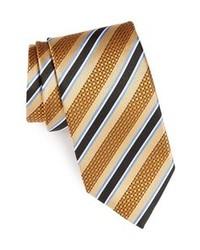Tan Vertical Striped Tie