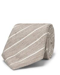 8cm striped slub linen and silk blend tie medium 1124897