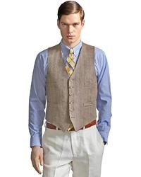 Brooks Brothers The Great Gatsby Collection Light Brown Linen Vest