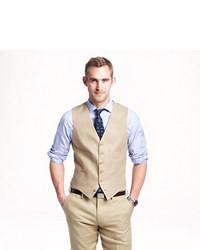 J.Crew Ludlow Suit Vest In Irish Linen