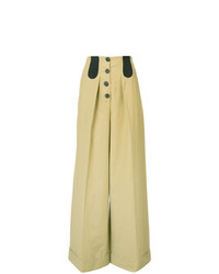 Rosie Assoulin Button Front Wide Leg Trousers